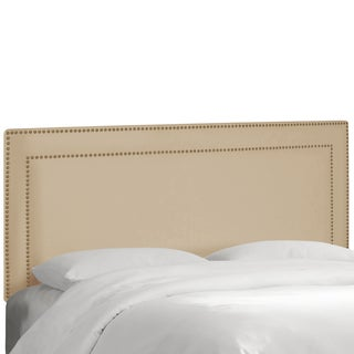 Skyline Furniture Nail Button Border Headboard in Premier Oatmeal