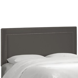 Skyline Furniture Nail Button Border Headboard in Premier Charcoal
