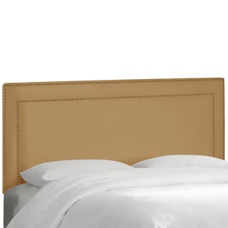 Skyline Furniture Nail Button Border Headboard in Premier Saddle
