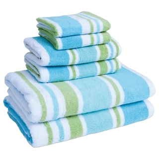 Coastal Cabana Stripe 6-piece Towel Set