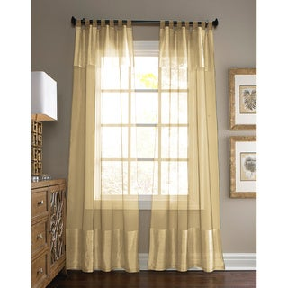 Silk Window Curtain Panel