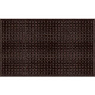 Textured Blocks Walnut Door Mat