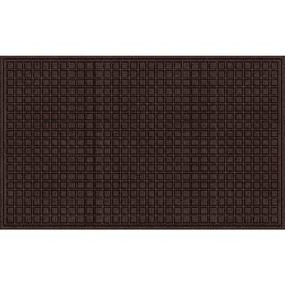 Textured Blocks Walnut Door Mat