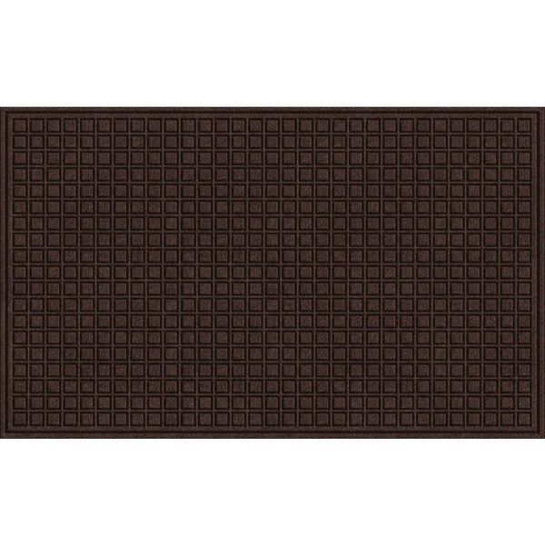 Shop Textured Blocks Walnut Door Mat Free Shipping On