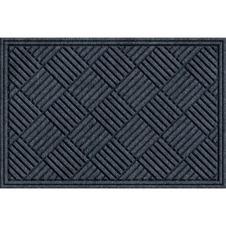 Textured Crosshatch Smoke Door Mat