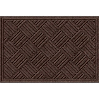 Textured Crosshatch Walnut Door Mat