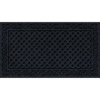 Textured Iron Lattice Onyx Door Mat|https://ak1.ostkcdn.com/images/products/10669956/P17734639.jpg?_ostk_perf_=percv&impolicy=medium