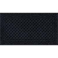 Textured Onyx Iron Lattice Door Mat