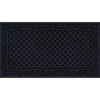 Textured Iron Lattice Onyx Door Mat - 18 x 30