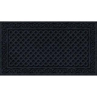 Textured Onyx Iron Lattice Door Mat