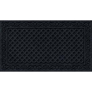 Textured Iron Lattice Onyx Door Mat