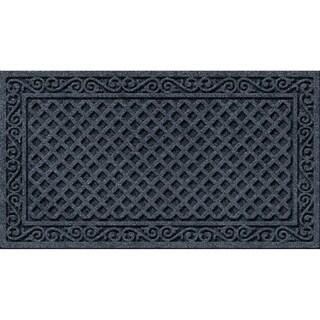 Textured Iron Lattice Smoke Door Mat  sc 1 st  Overstock.com & Door Mats For Less | Overstock.com