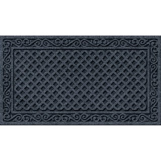 Textured Iron Lattice Smoke Door Mat