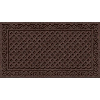 Textured Iron Lattice Walnut Door Mat (2 options available)