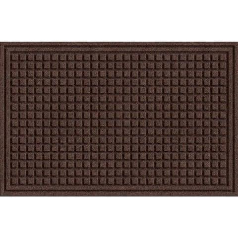 Textured Squares Walnut Door Mat