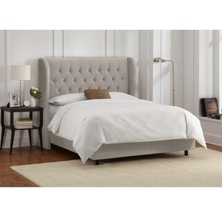 Tufted Wingback Bed in Velvet Light Grey- Skyline Furniture|https://ak1.ostkcdn.com/images/products/10669991/P17734713.jpg?_ostk_perf_=percv&impolicy=medium