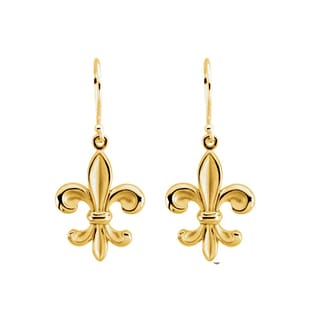 14k Goldplated Sterling Silver Fleur de Lis Earrings