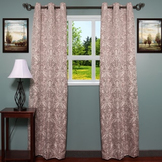 Elegant Damask Print Jacquard Grommet Curtain Panel 2-piece Set - 80 x 84