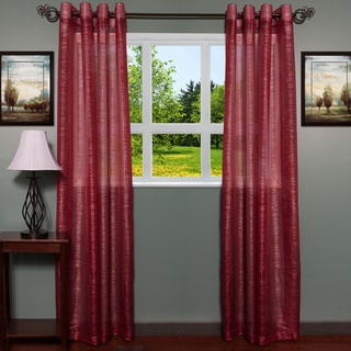 ContemporaryTextured Shimmer 55 inch x 84 Inch Grommet Curtain Panel 2-piece Set