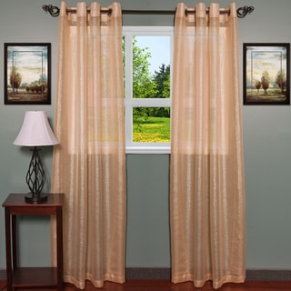 ContemporaryTextured Shimmer 55 inch x 84 Inch Grommet Curtain Panel 2-piece Set