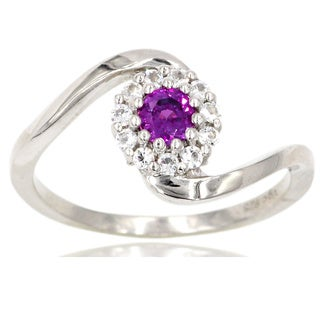 Sterling Silver Purple Sapphire Ring