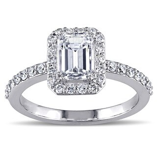 Miadora Signature Collection 14k White Gold 1 1/4ct TDW Diamond Emerald Cut Ring (G-H, SI1-SI2)