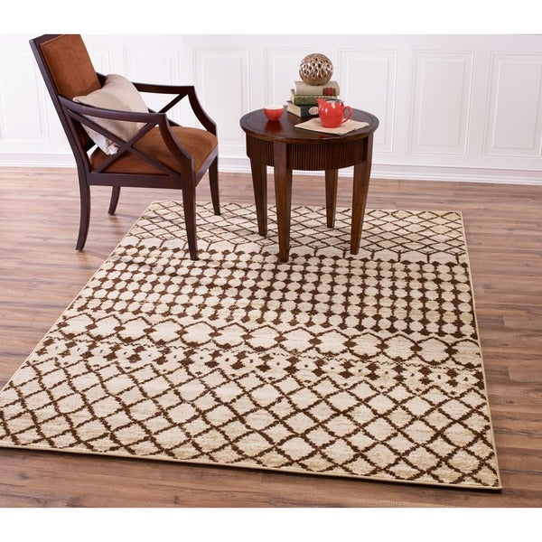 Tribal Area Rug Nate Berkus: Shop Beige And Brown Traditional Moroccan Tribal Area Rug