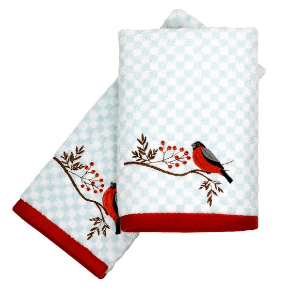 Peri Home Towels: Shop Peri Home Embroidered Cardinal 2-piece Fingertip
