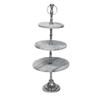 Casa Cortes Marble 3-tier Stand
