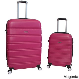 World Traveler Bristol 2-piece Lightweight Expandable Spinner Luggage Set