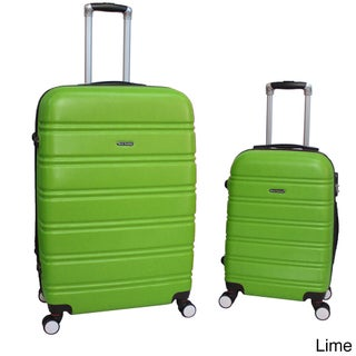 World Traveler Bristol 2-piece Lightweight Expandable Spinner Luggage Set (5 options available)