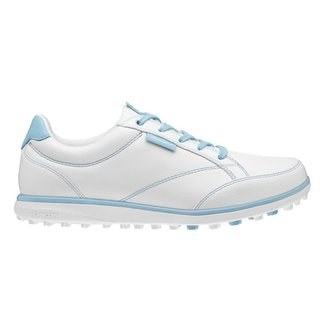 Ashworth Women's Cardiff ADC White/Light Aqua/Air Force Blue Golf Shoes