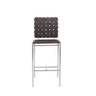 Carina 25.6-inch Brown/ Chrome Counter Stool (Set of 2)