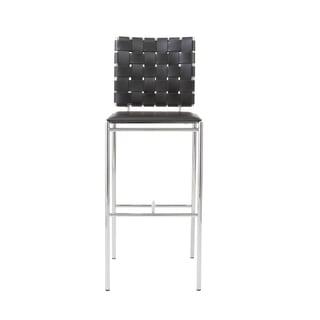 Carina 29.5-inch Black/ Chrome Bar Stool (Set of 2)