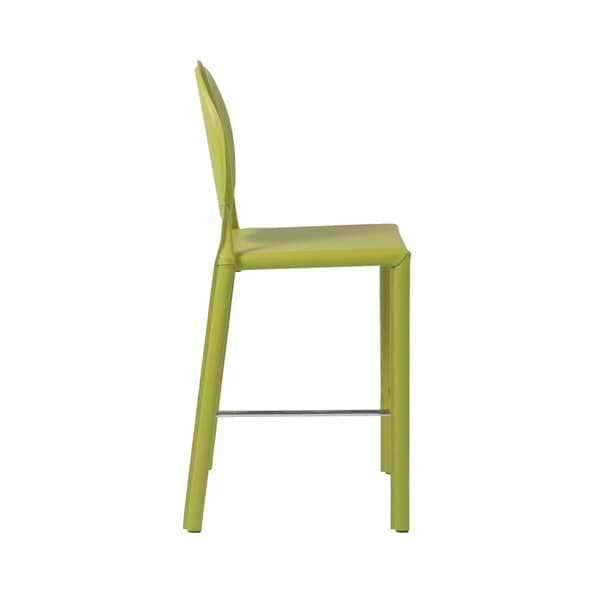 Shop Isabella 26 Inch Green Leather Counter Stool Set Of