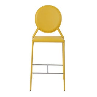 Isabella 26-inch Yellow Leather Counter Stool (Set of 2)