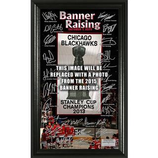 "Chicago Blackhawks 2015 Stanley Cup Champions ""Banner Raising"" Signature Pano"