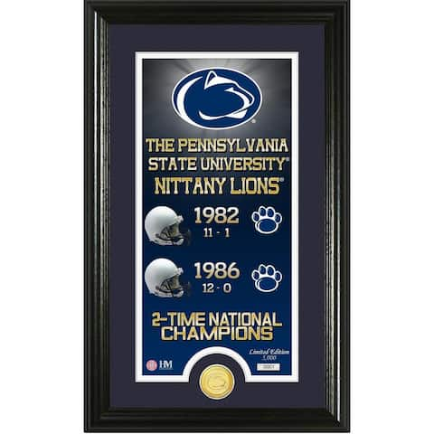 """Penn State University """"Legacy"""" Bronze Coin Panoramic Photo Mint"""