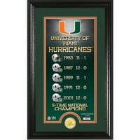 "University of Miami ""Legacy"" Bronze Coin Panoramic Photo Mint"