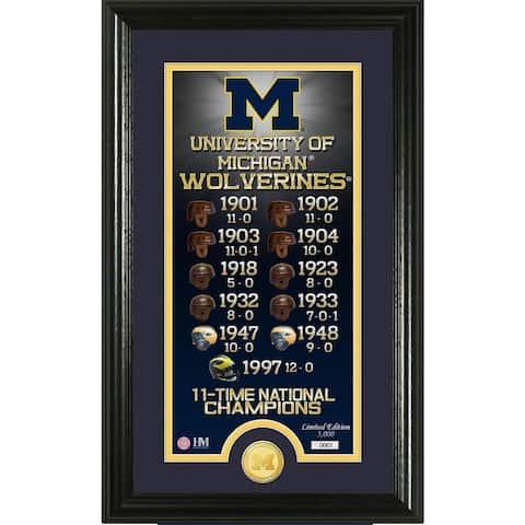 "University of Michigan ""Legacy"" Bronze Coin Panoramic Photo Mint"