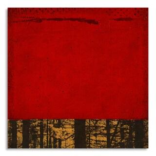 Gallery Direct Print by Joel Ganucheau 'Secret Forest II' on Birchwood Wall Art