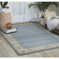 Nourison Somerset Light Blue Rug - 5'3 x 7'5