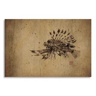 Gallery Direct Print by Dwight Hwang 'Lionfish' on Birchwood Wall Art