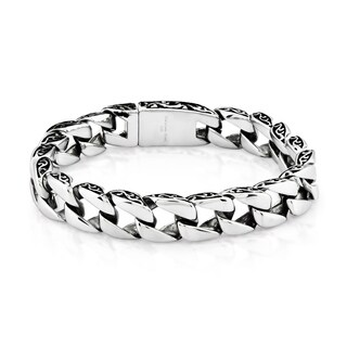 Crucible Stainless Steel Two-tone Curb Chain Bracelet (11 mm)|https://ak1.ostkcdn.com/images/products/10670252/P17734931.jpg?_ostk_perf_=percv&impolicy=medium
