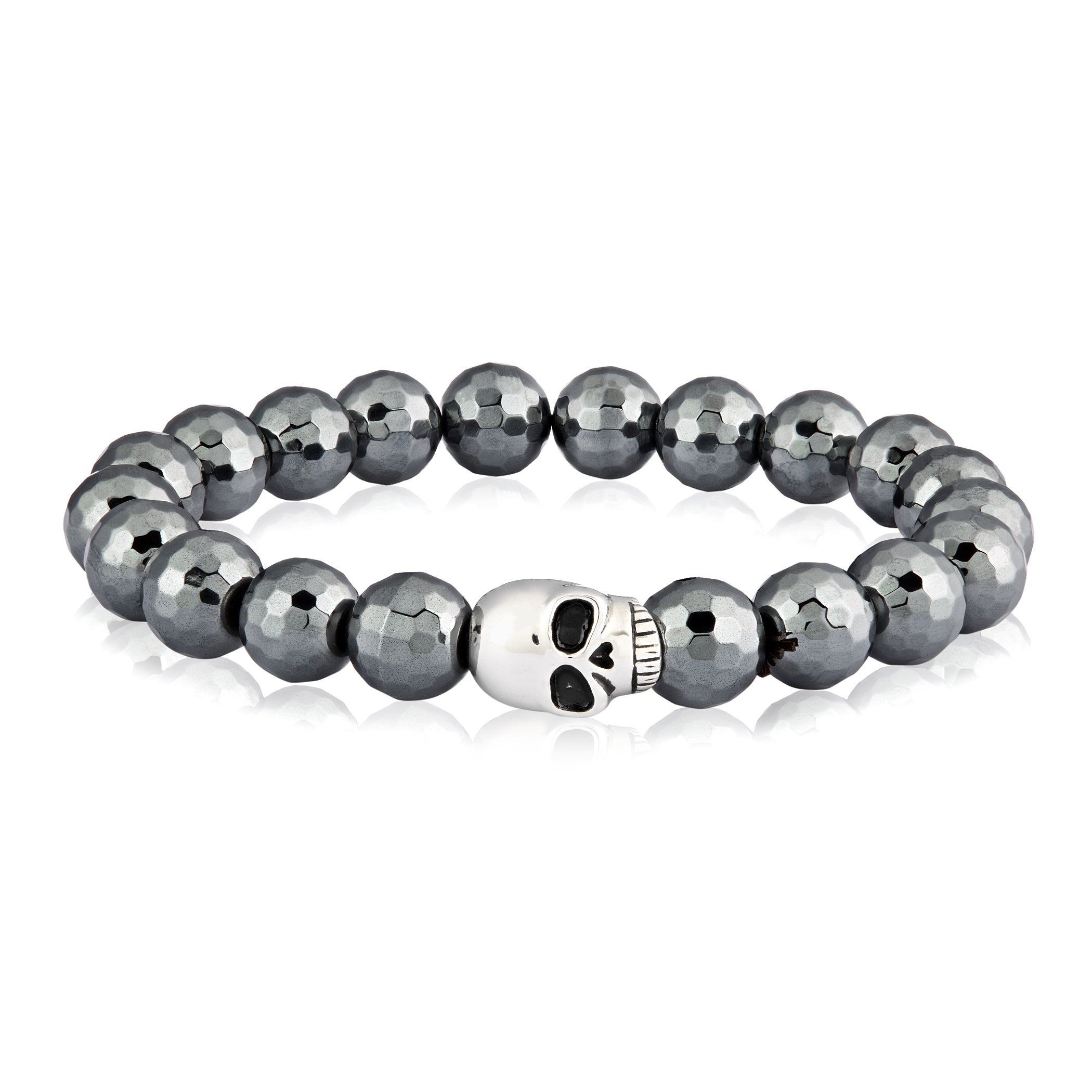 West Coast Crucible Stainless Steel Skull Faceted Hematit...