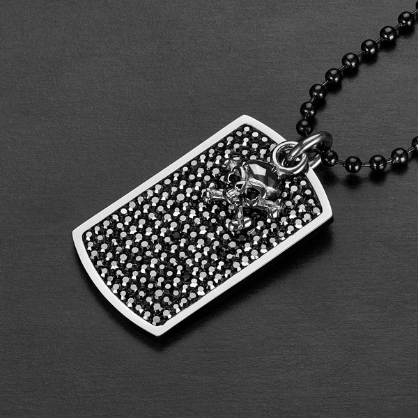 West Coast Jewelry Stainless Steel Antiqued Dog Tag 24 inches