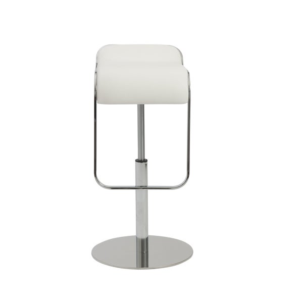 Shop Freddy 21 31 Inch Adjustbable Bar Counter Stool White Chrome