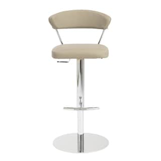 Draco Taupe/ Chrome Bar/ Counter Stool