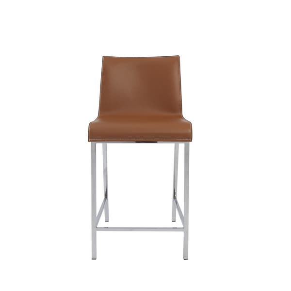 Incredible Shop Cam 24 Inch Cognac Chrome Counter Stool Set Of 2 Evergreenethics Interior Chair Design Evergreenethicsorg
