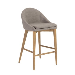 Baruch-c Dark Grey/ Walnut Counter Stool